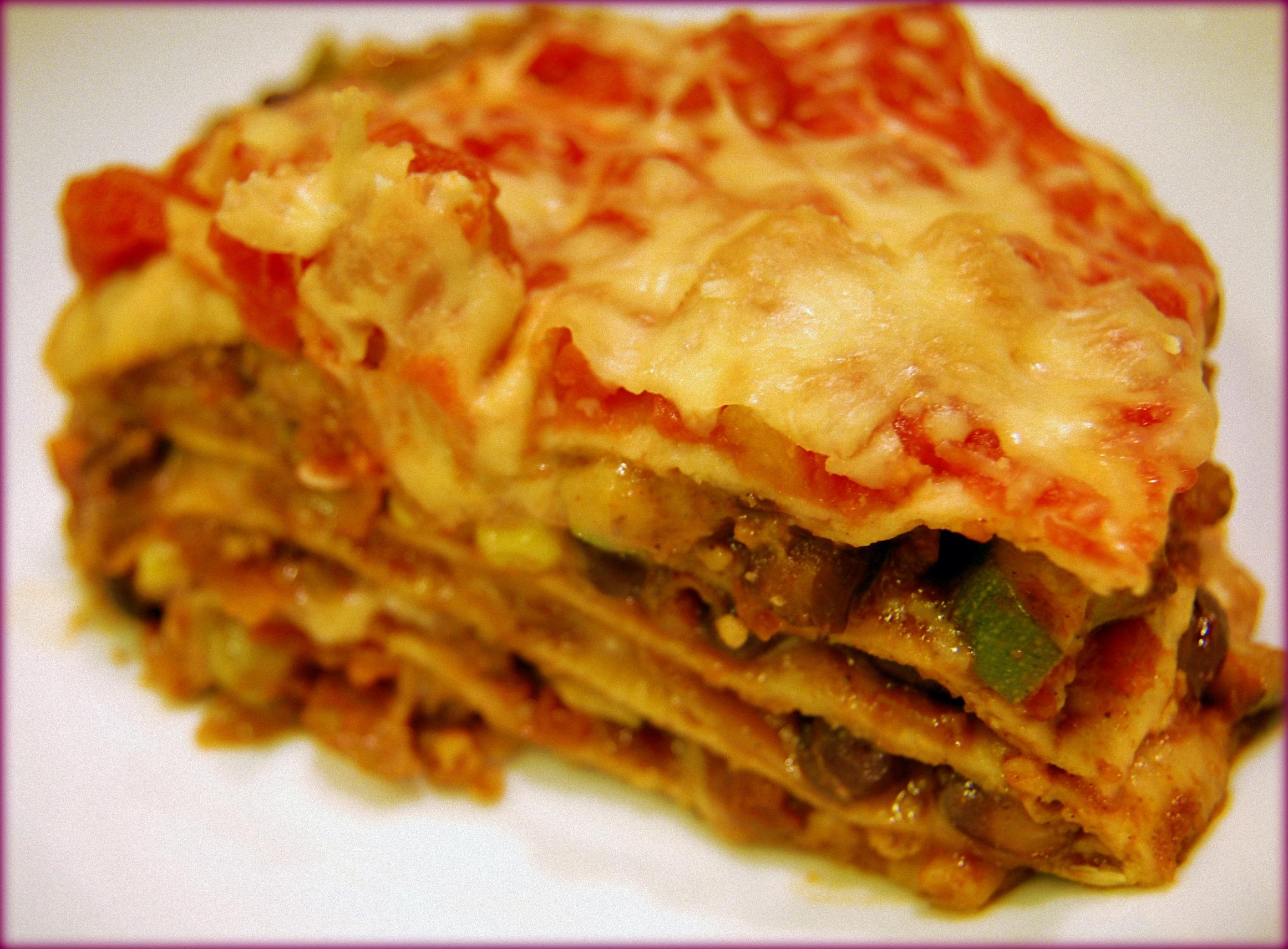 Veggie Tortilla Lasagna